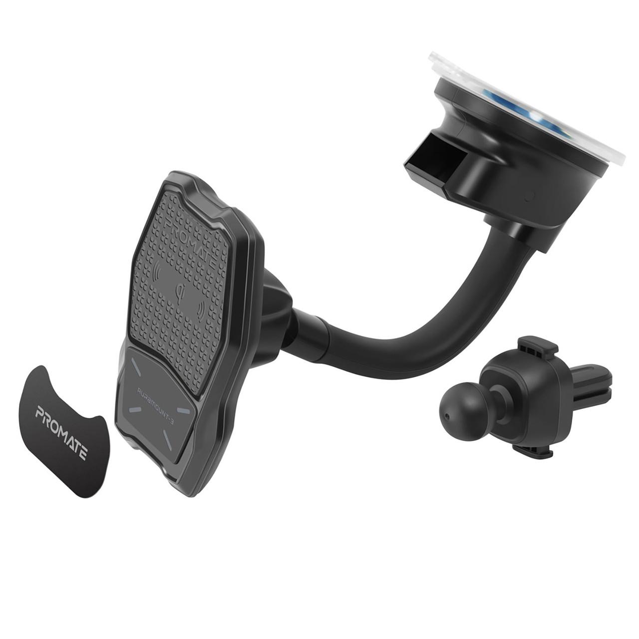 Автодержатель для телефона магнитный Promate AuraMount-3 Black