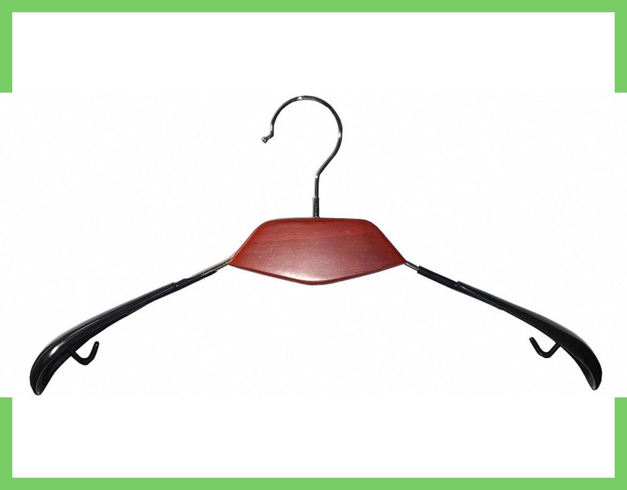 Плечики вешалки для одежды с Деревянной вставкой 41 см