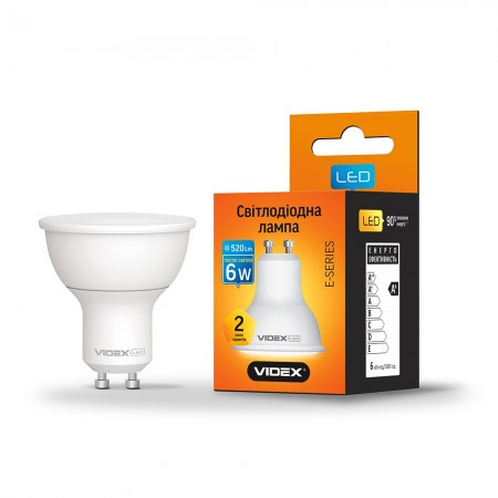 LED лампа VIDEX MR16 6W GU10 3000K 220V