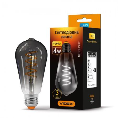 LED лампа VIDEX Filament ST64 4W E27 2100K