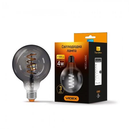 LED лампа VIDEX Filament G95 4W E27 2100K