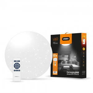 LED светильник функциональный  круглый SLIM (STAR)  VIDEX 60W 2800-6000K 220V(2шт/ящ)
