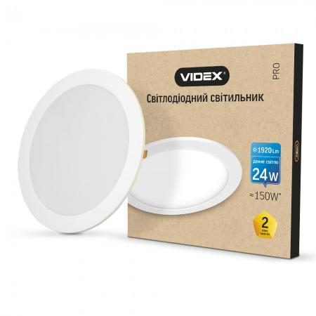 Встраиваемый круглый светильник 24W 5000K VIDEX