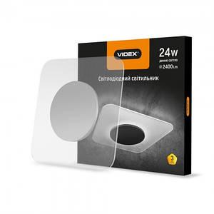 LED светильник Акриловый квадратный VIDEX 24W 4100K 220V 4 шт
