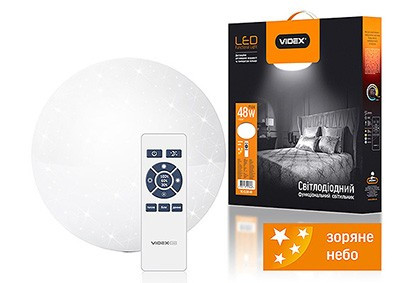 LED светильник функциональный  круглый (STAR)  VIDEX 48W 2800-6000K 220V