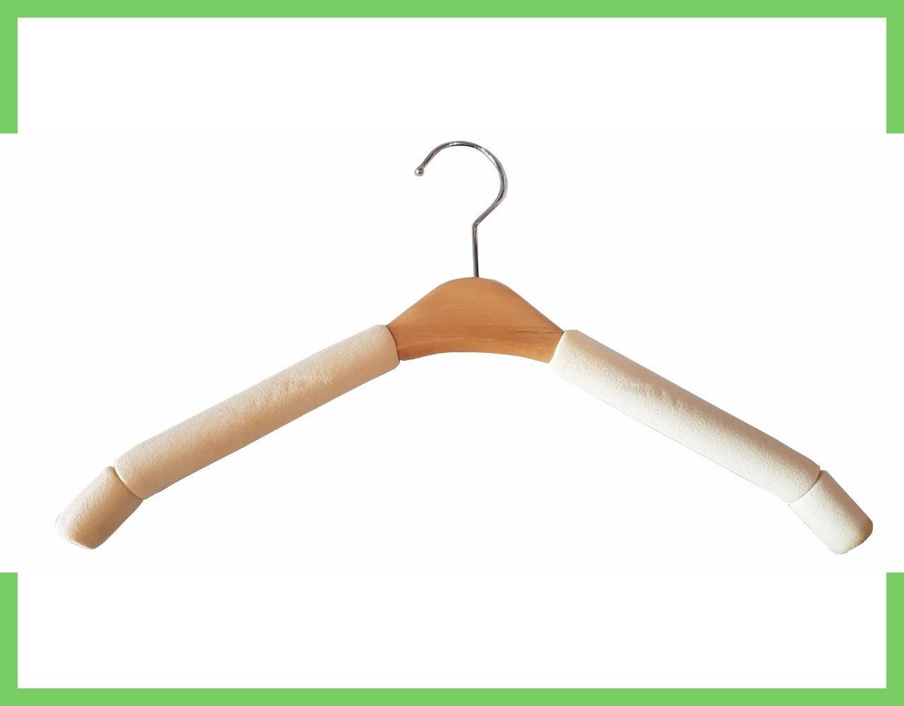 Плечики вешалки поролоновые для одежды (женские) 38см светлый