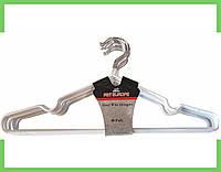 Вешалки плечики силикон для одежды (толстый) (белый) 40 см,крючок не поворотный.