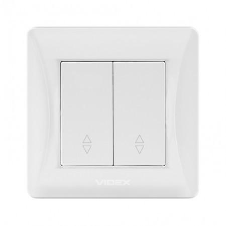 VIDEX BINERA Выключатель белый 2кл проходной VF-BNSW2P-W) (20/120)