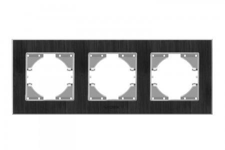 VIDEX BINERA Рамка черный алюминий 3 поста горизонтальная (VF-BNFRA3H-B) (13/104)
