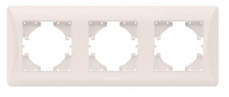 VIDEX BINERA Рамка кремовая 3 поста горизонтальная (VF-BNFR3H-CR) (12/96)