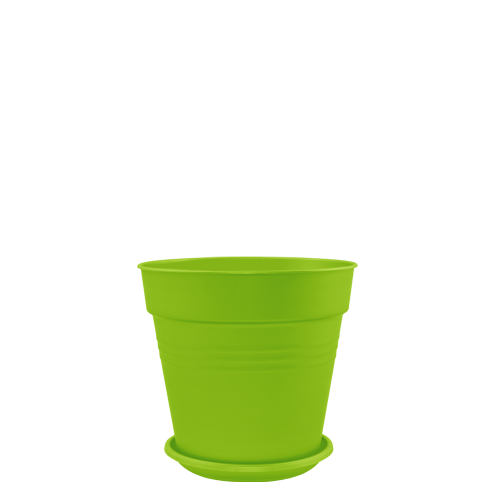 Горшок цветочный Глория 11х10,2 см зеленый 0,6 л , Украина