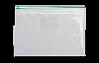 Папка-конверт А5 на молнии BUROMAX прозрачная зелёная