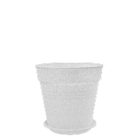 Горшок цветочный Глория 14х14,5 см белый флок 1,6 л , Украина