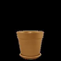 Горшок цветочный Глория 11х10,2 см бронзовый 0,6 л , Украина