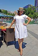 Нарядное женское платье прошва большие размеры Г05004, фото 1