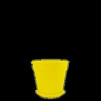 Горшок цветочный Глория 11х10,2 см желтый 0,6 л , Украина
