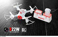 Р.У.Квадролет Syma X22W с гироскопом,камера,Wi-Fi,FPV,свет,вращ.на 360гр.,аккум.USB
