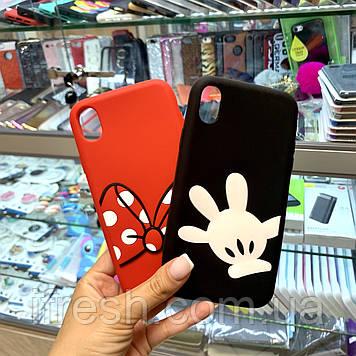 Чехол силиконовый Микки Маус для iPhone X/XS