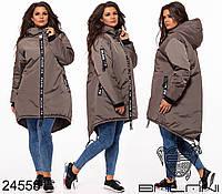 Куртка женская зимняя с капюшоном очень теплая в расцветках на синтепоне