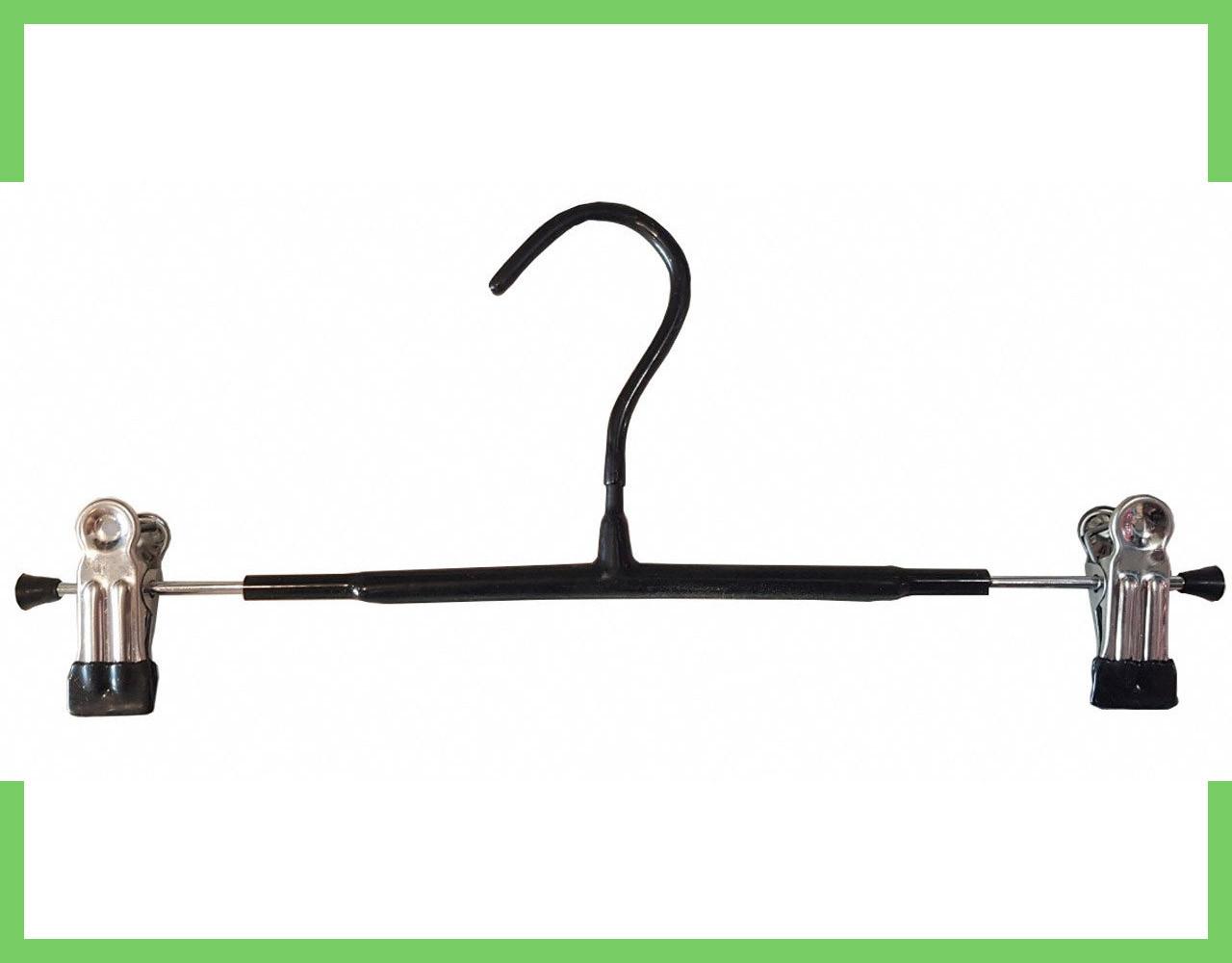 Тремпель для брюк в силиконе 35 см (хром+черный силикон)