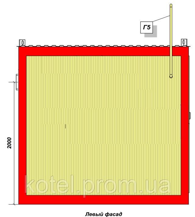 КМ-2-200 Колви 1.100 СР левый фасад