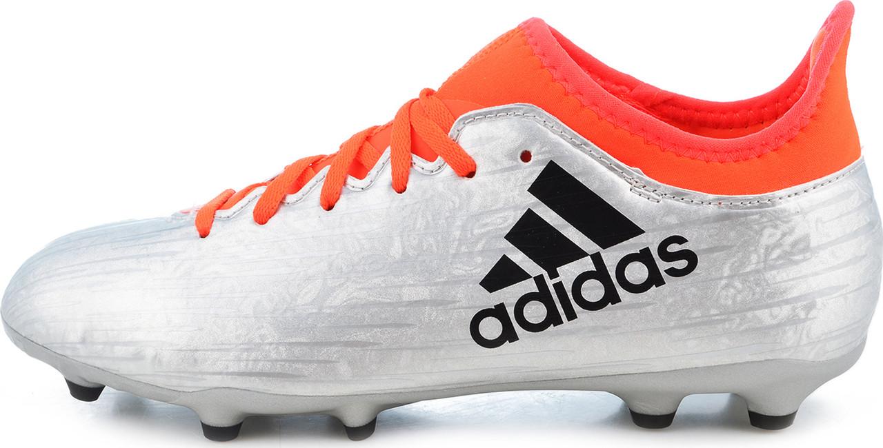 """Детские футбольные бутсы Adidas X 16.3 FG-AG J """"Mercury Pack"""" (S79488) - Оригинал."""