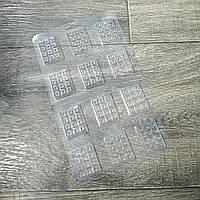 Пластиковая форма для шоколада маленькие плитки 3