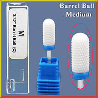 Фреза Керамическая Насадка для Ногтей Бочонок Мяч Синяя Средняя М Barrel Ball C