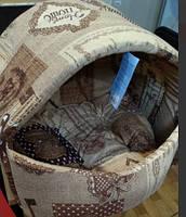 Домик лежак для котов и собак Д102 Козуб №2 Collar (Коллар), 42*37*35см