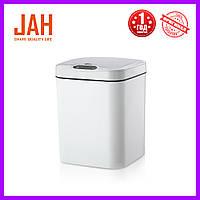 Сенсорное мусорное ведро JAH 15 л квадратное белое, фото 1