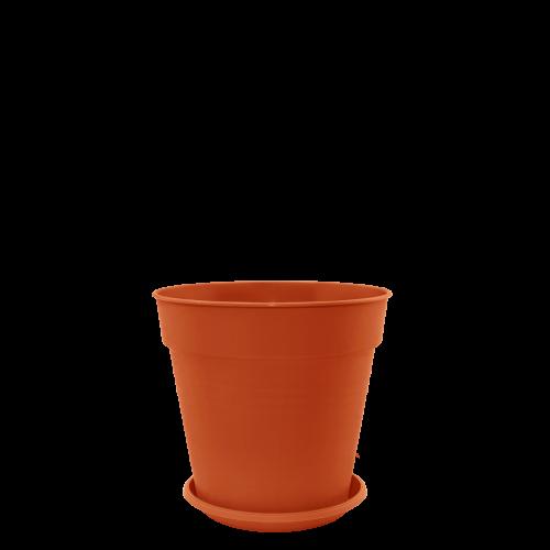 Горшок цветочный Глория 14х14,5 см терракота 1,6 л , Украина