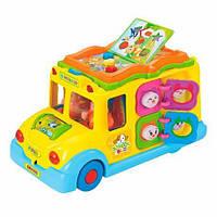 Игрушка Школьный автобус со звуковыми и световыми эффектами для развития мелкой моторики и мышления