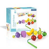 Развивающая детская игрушка для детей 3+ Шнуровка Фрукты