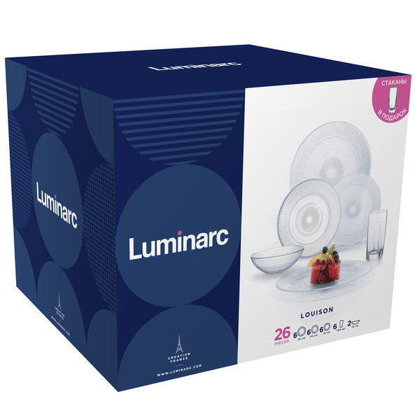 Louison (ЛУИЗ) Сервиз столовый 26 пр Luminarc P6589