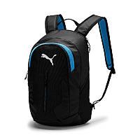 Рюкзак спортивный Puma Final Pro 075895 01 (черный с синим, отсек под ноутбук или планшет, 25 л, логотип пума)