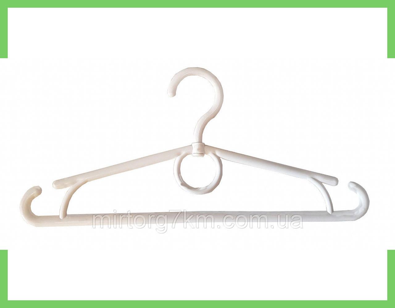 Вешалка плечики пластмассовые детское-Украина 32 см (белые)
