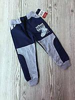 Спортивные штаны для мальчика на 1-4 лет серого, синего, бордового цвета оптом