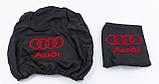Чехлы на подголовники AUDI (Ауди) черные, фото 2