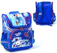 Ортопедический ранец.Рюкзак детский в школу.Синий детский школьный рюкзак.