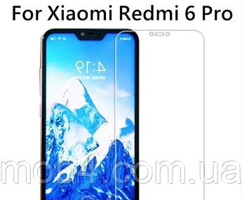 Защитное стекло класическое для Xiaomi (Ксиоми) Redmi 6 Pro (Classic)