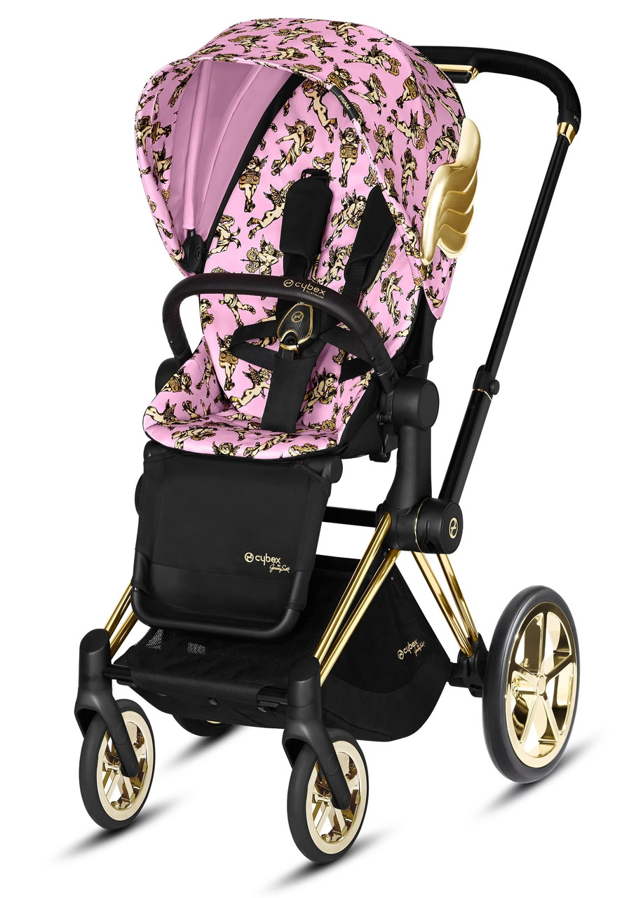 Коляска Cybex Priam Lux by Jeremy Scott Cherub Pink Прогулочная