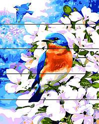Картина по номерам на дереве Весна пришла (RA-AS0052) 40 х 50 см Rainbow Art