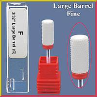 Фреза Керамическая Насадка для Ногтей Цилиндр, Красная Тонкая Fine Large Barrel C, для Аппаратного Маникюра