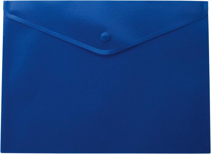 Папка-конверт А5 на кнопке Buromax синяя