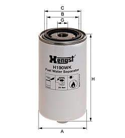 Паливний фільтр Hengst H190WK