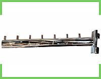Кронштейн (Флейта) в рейку, хром,30см (7 гвоздиков), фото 1
