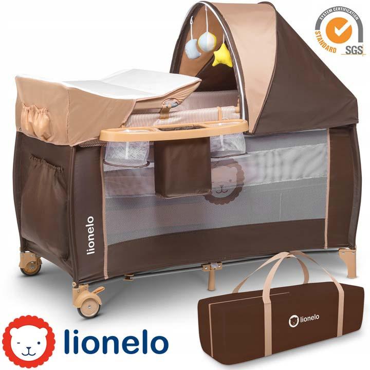 Кроватка туристическая Lionelo Sven Plus Brown-Beige