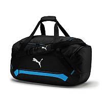Сумка спортивная Puma Final Pro Medium Bag 075896 01 (черная, боковой карман, среднего размера, бренд пума)