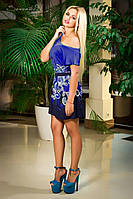 Платье 0894 / синий