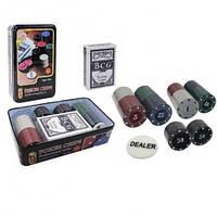 Покерный набор POKER CHIPS в металлической коробке - 80 фишек